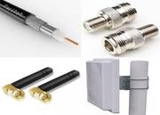 Антенны радиосвязи,  кабеля,  разъемы и прочее радиооборудование